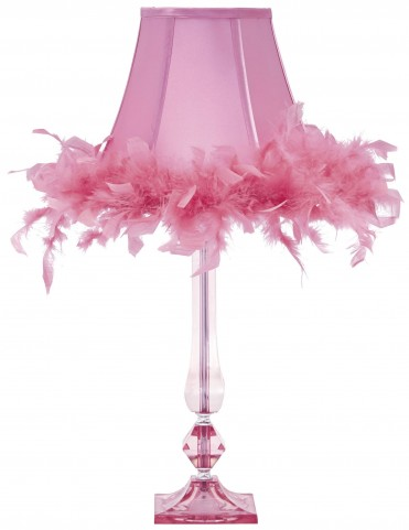 Auren Pink Acrylic Table Lamp