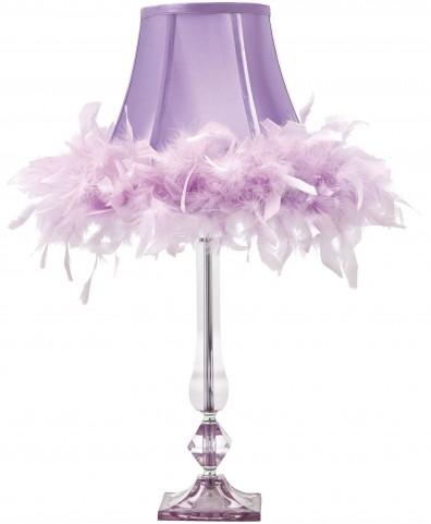 Auren Purple Acrylic Table Lamp