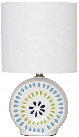 Auroretta Blue and Green Ceramic Table Lamp
