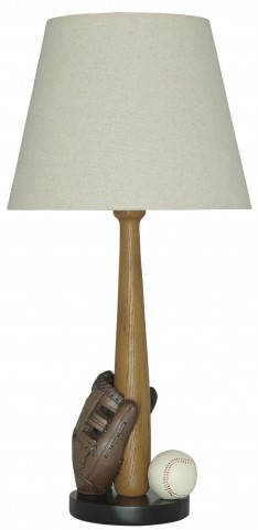 Avidan Brown and Cream Poly Table Lamp