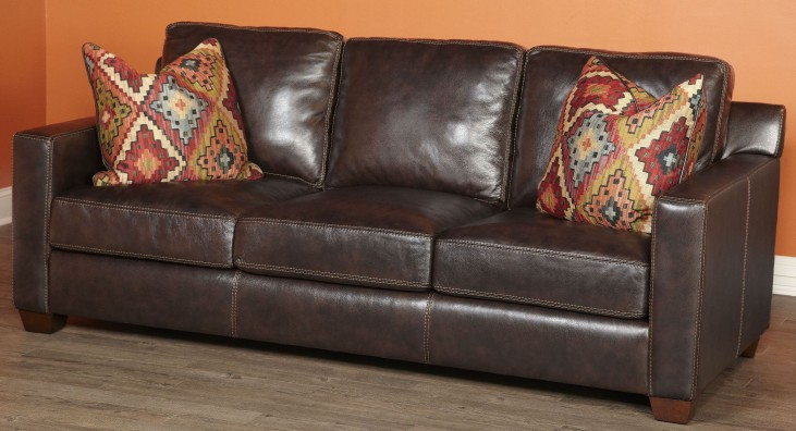 Adobe Akron Brown and Adobe Multi Sofa