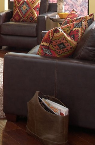 Adobe Akron Brown and Adobe Multi Loveseat
