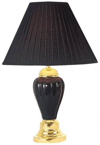 Acme Ceramic Black Table Lamp Set of 6