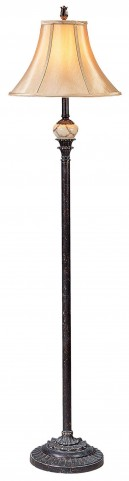 Rosalie Antique Black Floor Lamp Set of 2
