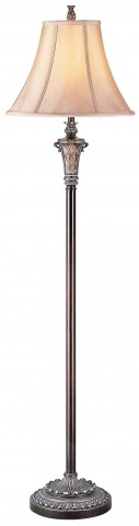 Vera Sterling Silver Floor Lamp Set of 2