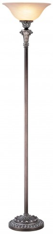 Vera Sterling Silver Torchiere Lamp