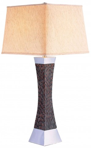 Pandora Dark Wood Table Lamp