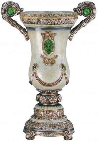 Gabriela Emerald Stone Classical Decorative Vase Set of 2