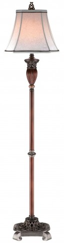 Luna Glossy Brown Floor Lamp Set of 2