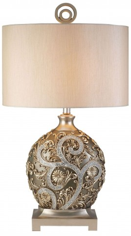 Estelle Champagne Silver Table Lamp