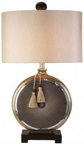 Darcey Mirror Tiles Table Lamp