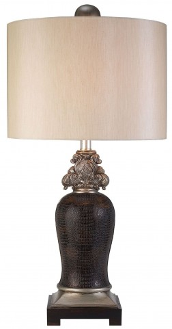 Tarcey Crocodile Leather Table Lamp