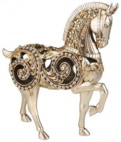 Estelle Champagne Silver Horse Decorative Piece Set of 4