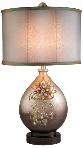 Margo Glittery Champagne Table Lamp
