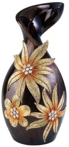 Jacqueline Glossy Wooden Decorative Vase Set of 4