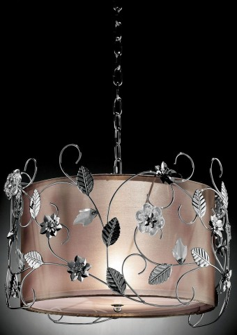 Elva Chrome Double shade Ceiling Lamp