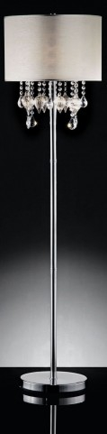 Calypso Hanging Crystal/Glass Ornament Floor Lamp