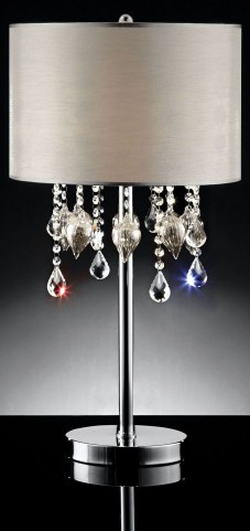 Calypso Hanging Crystal/Glass Ornament Table Lamp