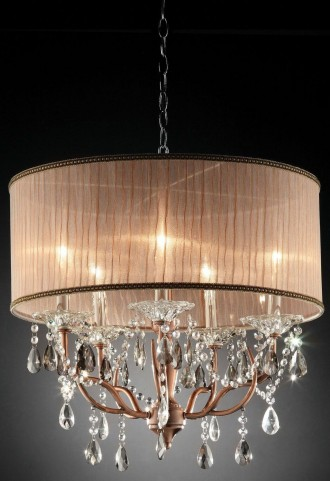 Cecelia Antler Hanging Crystal Ceiling Lamp