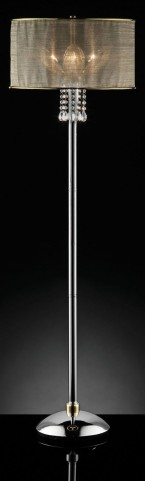 Gladys Glass Petal Hanging Crystal Floor Lamp