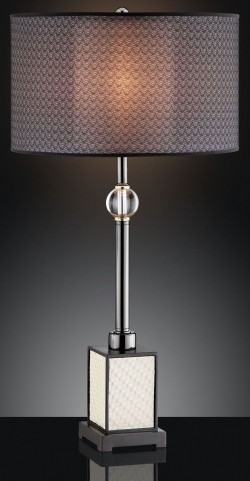 Magda Black Chrome Table Lamp