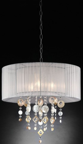 Lucille Ivory Hanging Crystal Ceiling Lamp