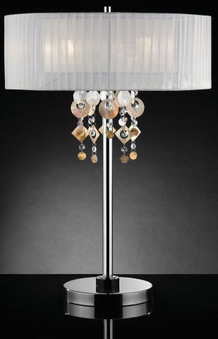 Lucille Hanging Jewel Shaped Pieces Crystal Table Lamp
