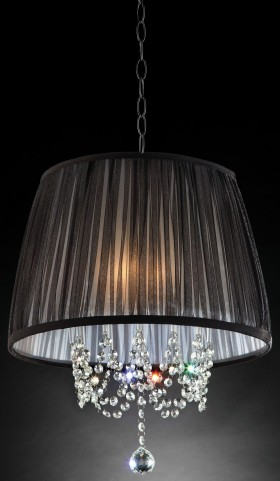 Quiana Shear Hanging Crystal Ceiling Lamp