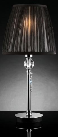 Quiana Black Sheer Hanging Crystal Table Lamp Set of 2