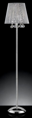 Nora Chrome Floor Lamp