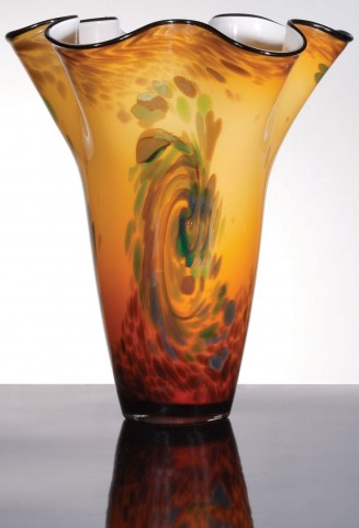 Thalia Light Orange Decorative Vase Set of 4