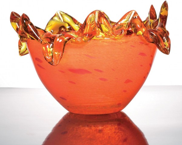 Zuri Fiery Orange Decorative Bowl Set of 2