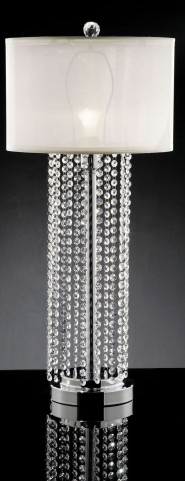 Claris Hanging Crystal Table Lamp