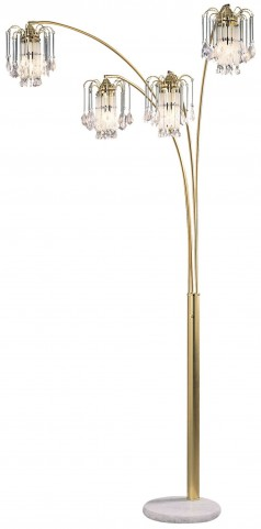 "Elouise Sand Gold 91"" Arch Lamp"