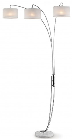 "Leanne Polished Chrome 85"" Arch Lamp"