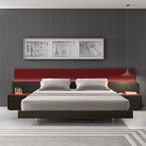 Lagos Natural Light Grey Lacquer Queen Platform Bed