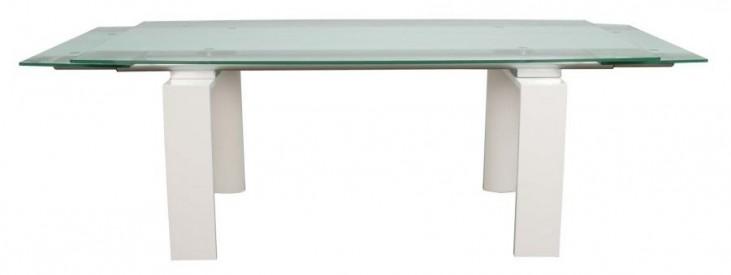 Ritz Lara White High Gloss Rectangular Extendable Dining Table