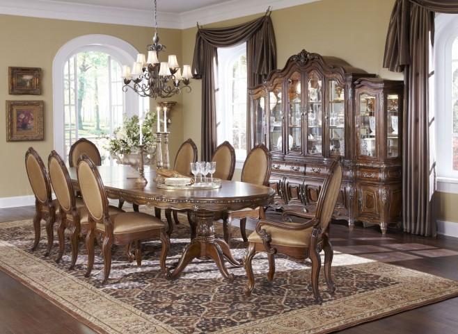 Lavelle Melange Oval Pedestal Dining Room Set