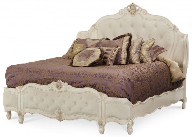 Lavelle Blanc Queen Wing Mansion Bed
