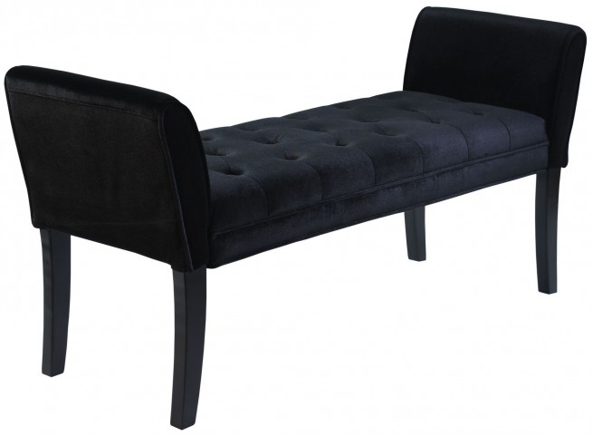 Chatham Black Velvet Bench
