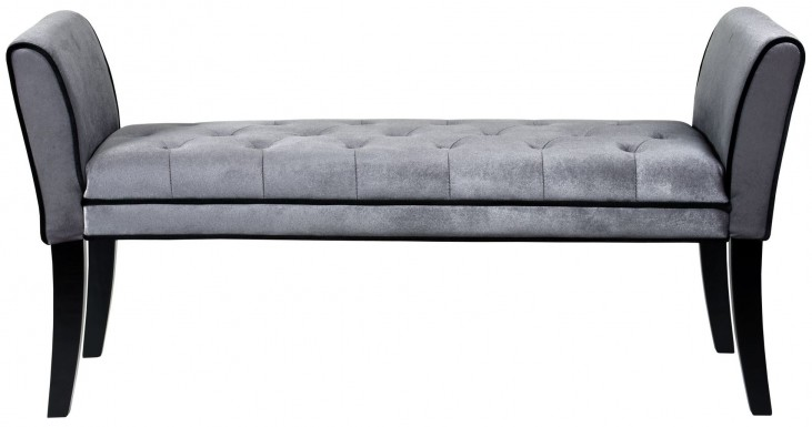 Chatham Gray Velvet Bench