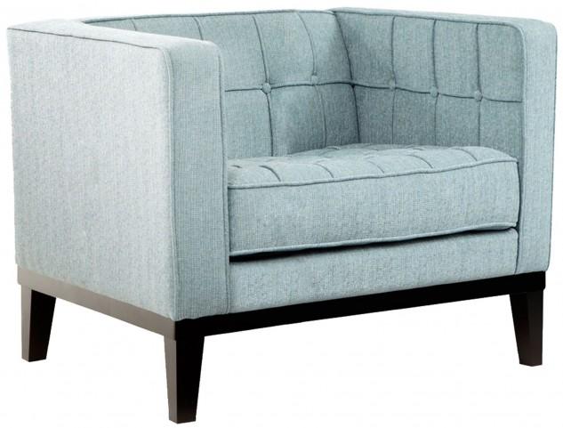 Roxbury Spa Blue Fabric Arm Chair