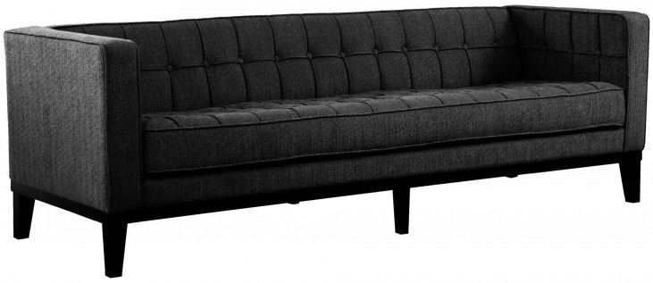 Roxbury Charcoal Fabric Sofa