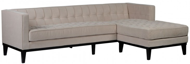 Roxbury Cream Fabric Reversible Sectional