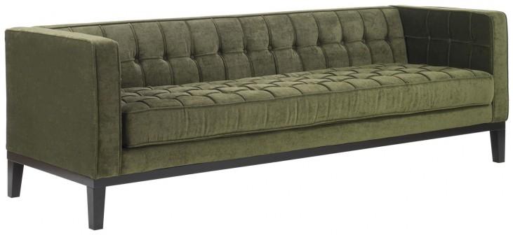 Roxbury Tufted Green Fabric Sofa