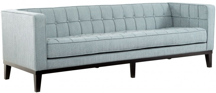 Roxbury Spa Blue Fabric Sofa