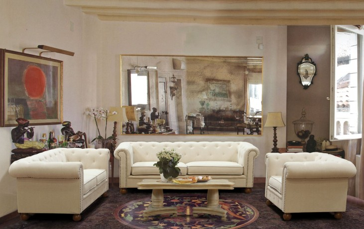 Winston Linen Fabric Living Room Set
