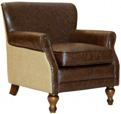 Antique Brown Club Chair