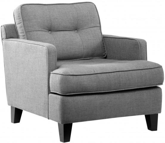 Eden Cement Gray Fabric Chair