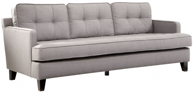 Eden Cement Gray Fabric Sofa
